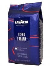 Кофе в зернах Lavazza Crema e Aroma (Лавацца Крема е Арома)  1 кг, вакуумная упаковка, пакет синего цвета