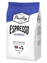 Кофе в зернах Paulig Espresso Favorito (Паулиг Эспрессо Фаворито)  1 кг, вакуумная упаковка