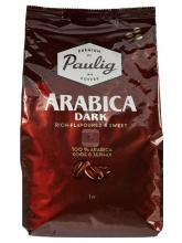Кофе в зернах Paulig Arabica Dark (Паулиг Арабика Дарк)  1 кг, вакуумная упаковка